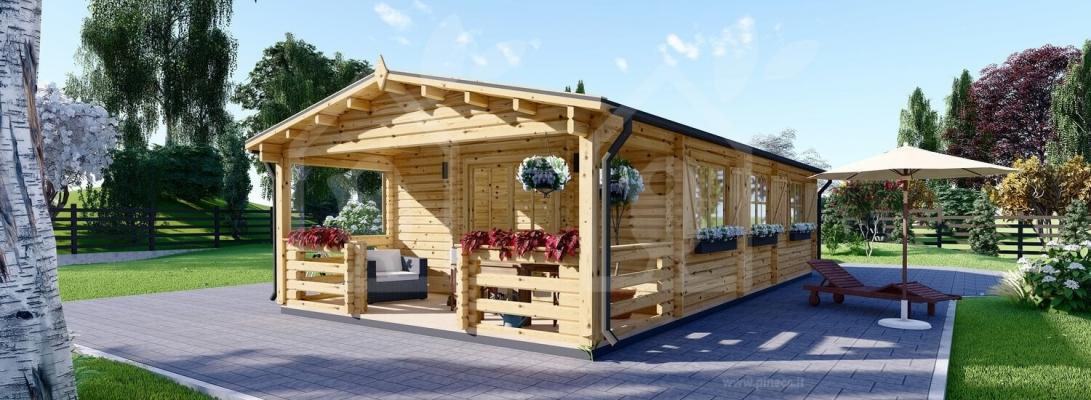 Una casetta prefabbricata in legno per l'estate