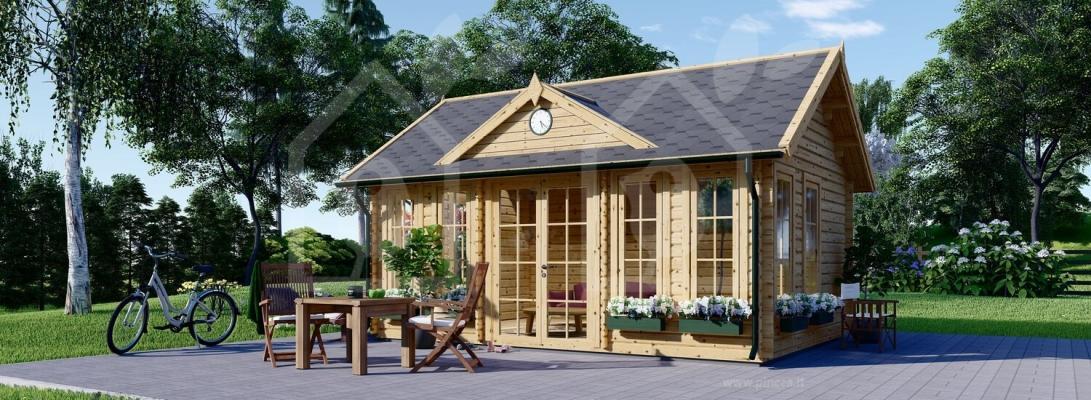 Una dependance in giardino interamente in legno