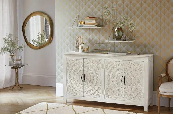 Mobile buffet Mannar in stile shabby chic - Design e foto by Maisons Du Monde