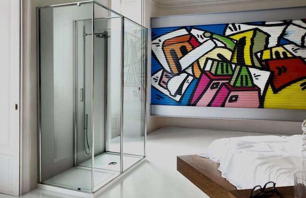 Doccia per bagno en suite In-Out - Vismara Vetro