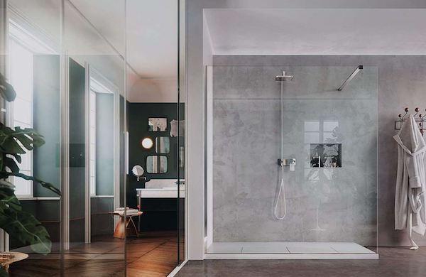 Cabina doccia walk in per bagno en suite - Vismara Vetro