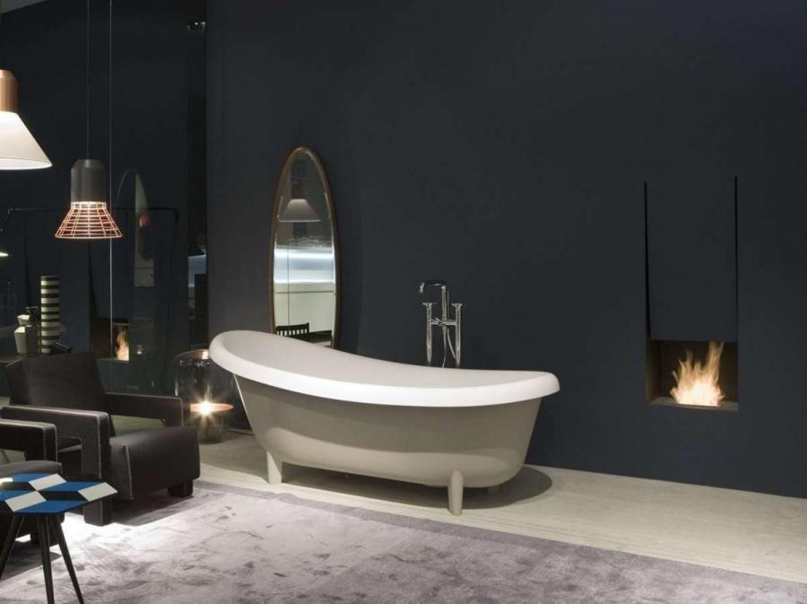 Vasca freestanding Suite per bagni en suite in nuance grigio chiaro - Barili
