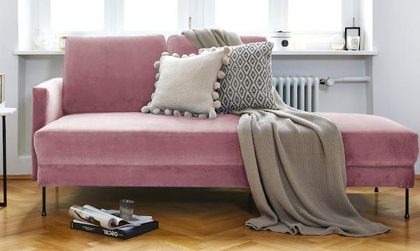 Chaise longue Fluente in velluto rosa - Design e foto by Westwing