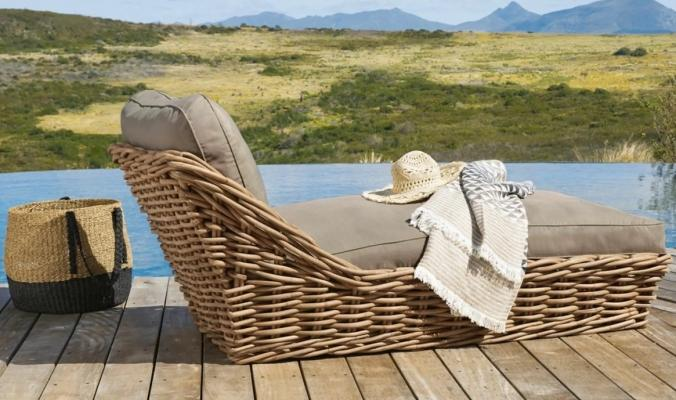 Chaise longue da giardino St Tropez in rattan - Design e foto by Maisons Du Monde