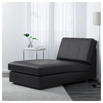 KIVIK, chaise longue moderna in pelle nera - Design e foto by IKEA