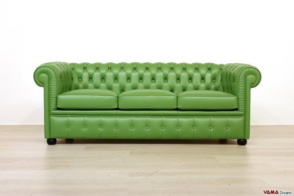 Divano Capitonné verde pisello - VAMA Divani