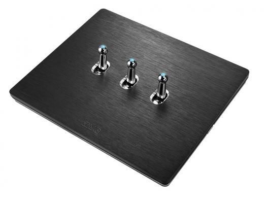 Interruttori a levetta AVE New Style Alluminio 3 comandi antracite
