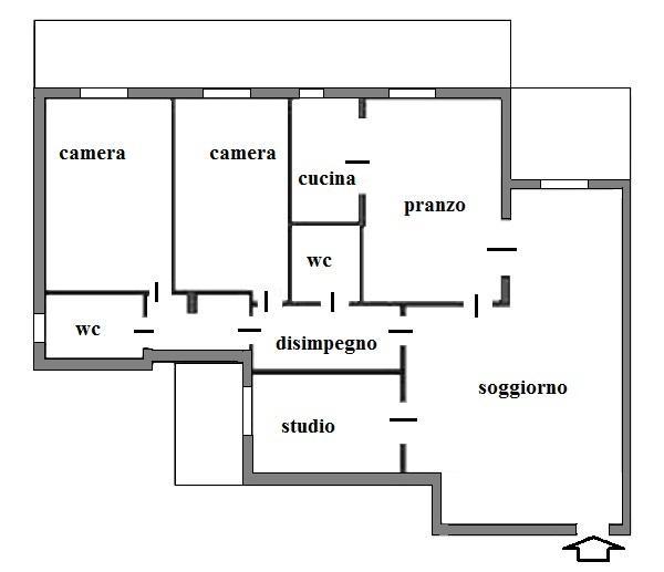 Camera ospiti: appartamento prima