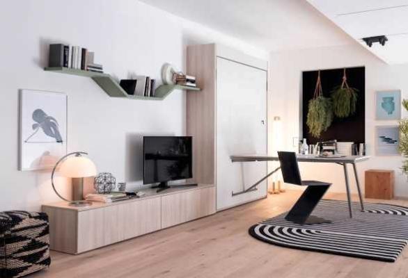 Camera ospiti armadio con letto singolo incorporato Clever