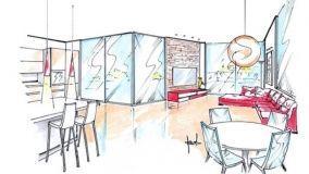 Attico open space: più luce agli ambienti interni