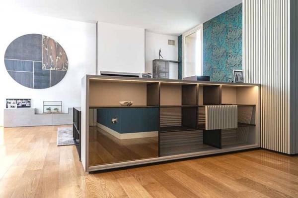 Arredo attico open space - Gandossi