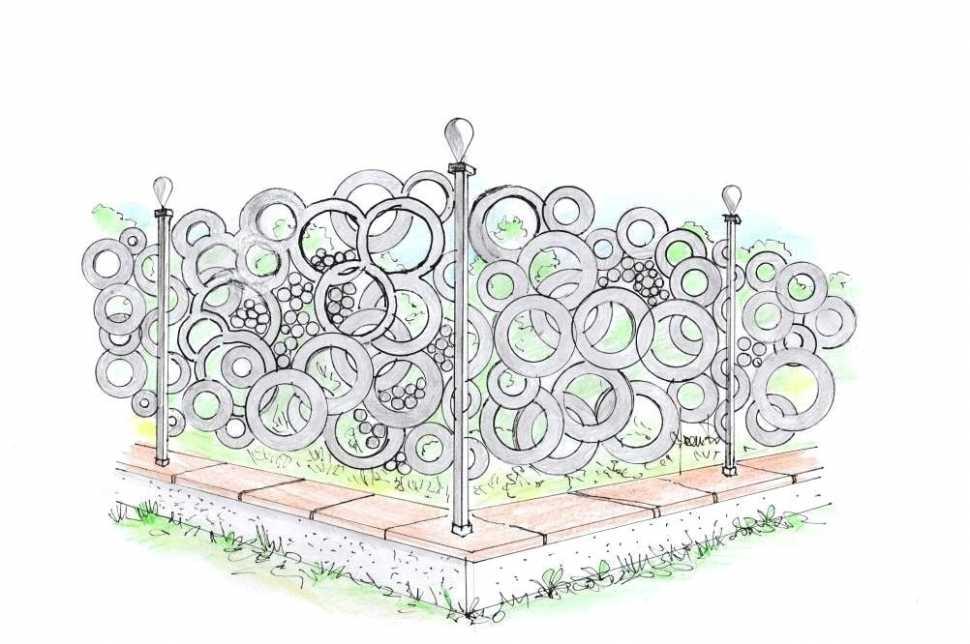 Frangivista in metallo per giardino