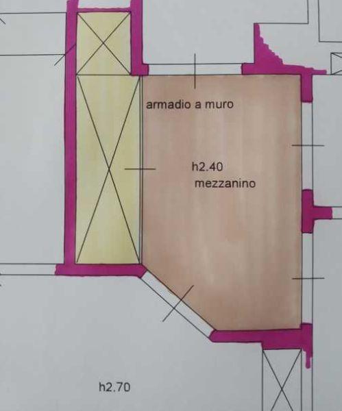 Con un mezzanino si ribassa un corridoio alto - progetto Arch. Caterina Scamardella