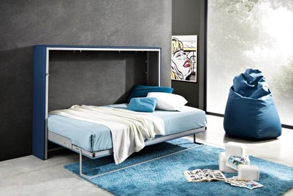 Struttura letto e materasso Lamantin a parete
