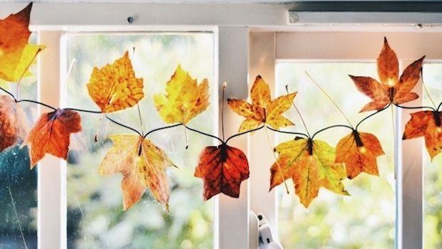 Idee per decorare casa con il riciclo creativo di foglie secche