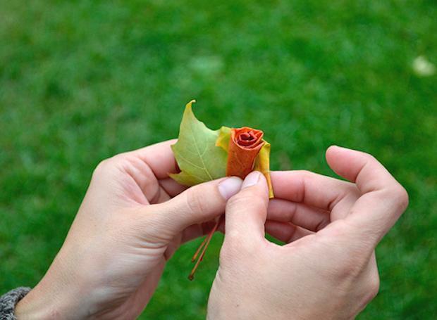 Riciclo foglie secche: bouquet, parte 3, da designsponge.com