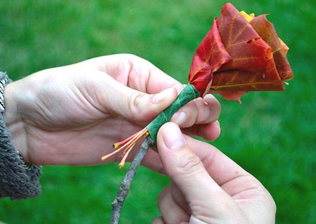 Riciclo foglie secche: bouquet, parte 4, da designsponge.com