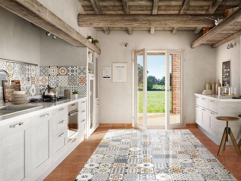 Accostamento pavimenti in ceramica - Maiolica Sole Iperceramica