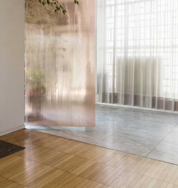 Accostamento pavimenti - marmo e parquet