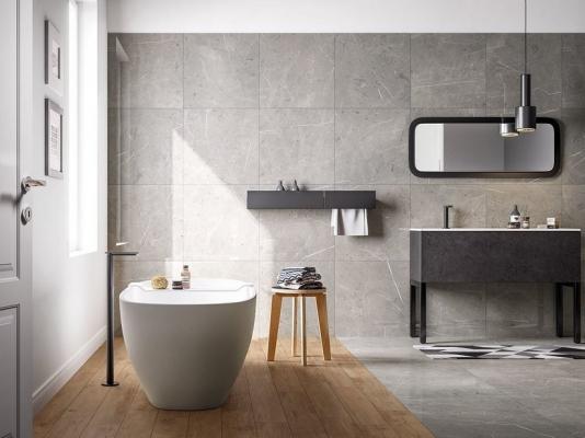 Accostamento pavimenti - Gres porcellanato effetto marmo Iperceramica