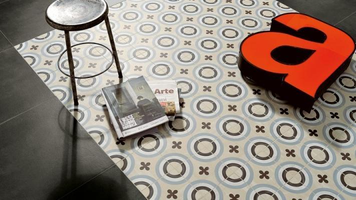 Accostamento pavimenti in ceramica - cementine20 Fioranese