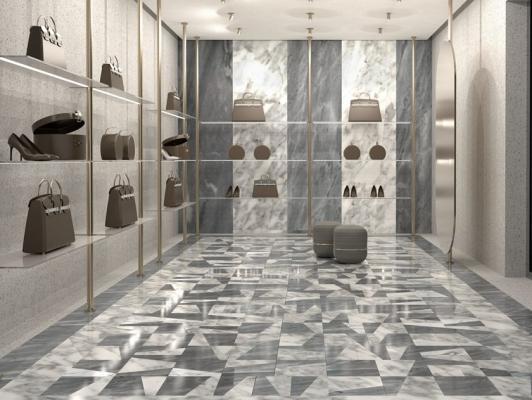 Accostamento pavimenti marmo - Marea Montillo Marmi
