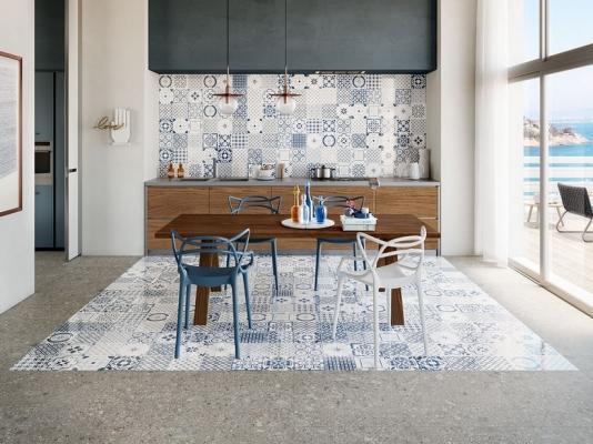 Accostamento pavimenti in ceramica - Maiolica Mare Iperceramica