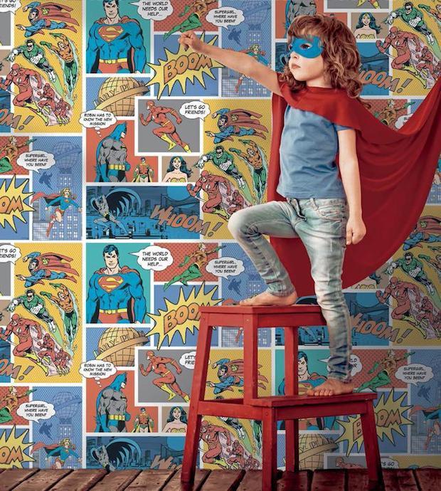 Carta da parati supereroi, da Jannelli & Volpi