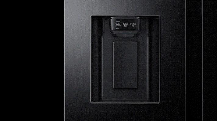 Display frigorifero nero Samsung Side by side