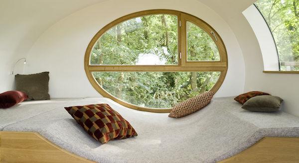 Casa sull'albero Djuren: interni - Foto e progetto by Studio Baumraum