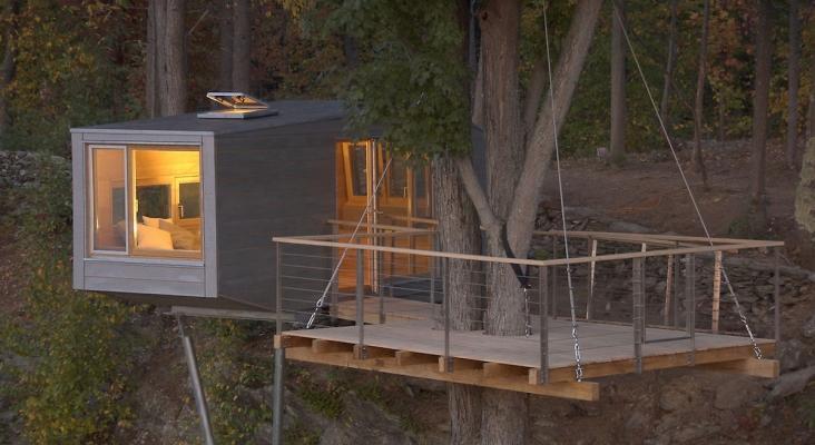 Casa sull'albero prefabbricata ecofriendly, by Studio Baumraum