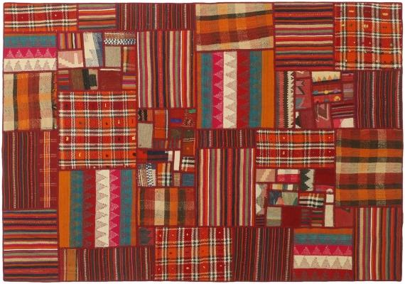 Tappeto orientale Kilim patchwork in cotone - Foto by Nain Trading