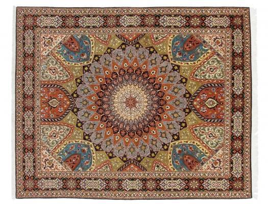 Tappeto indiano Tabriz in lana e seta - Foto by Nain Trading