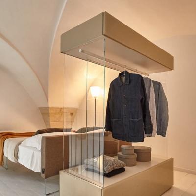 Cabina armadio a giorno in vetro Air - Design e foto by Lago