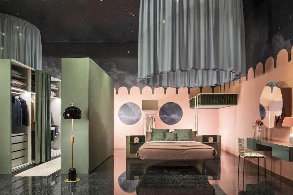 Versione a terra dell'armadio a vista Et Voilà - Design e foto by Lago