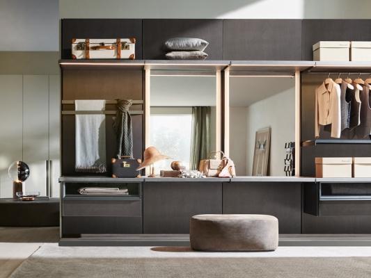 Cabina armadio Master Dressing con armadio Master Glass di Molteni&C