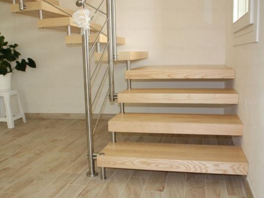 Scala da interno con gradin iin legno - PM Scale