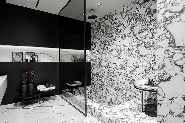 Marmo bianco marmo nero Florim