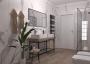 Progetto bagno marmo beige Abk design