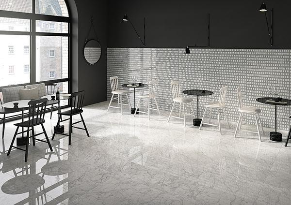 Pavimenti in ceramica effetto marmo Fioranese