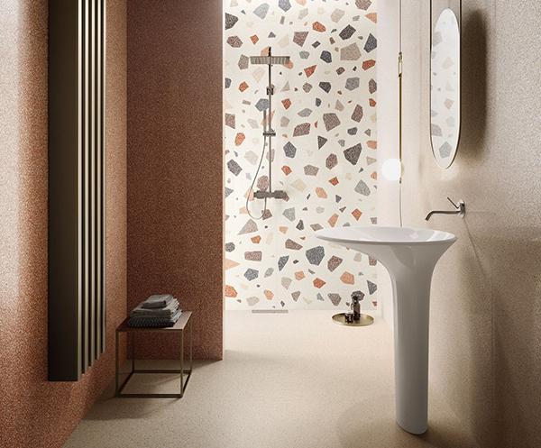 Rivestimenti bagno effetto marmo travertino Sant'Agostino