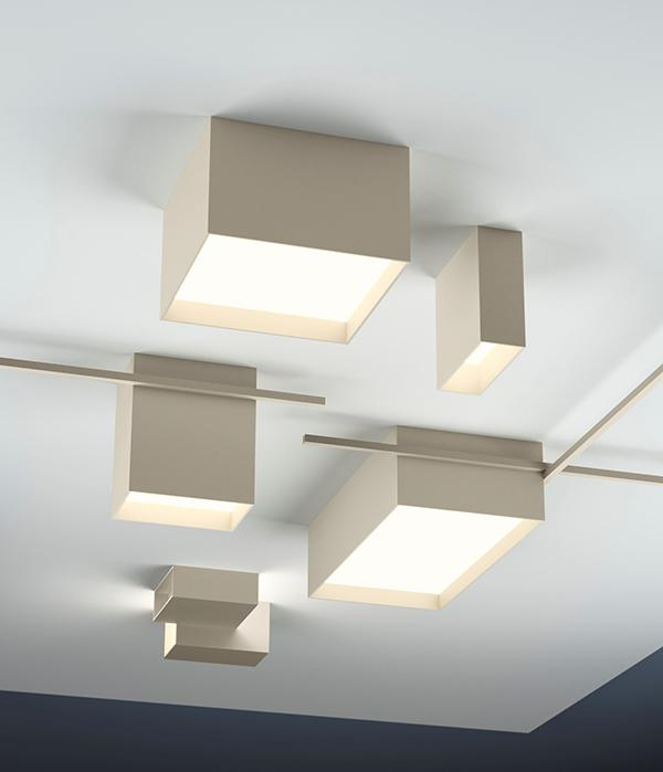 Applique set luci led Structural a soffitto di Vibia