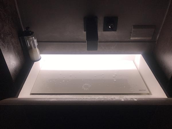 Lavabo strappo con led illuminazione antonio lupi