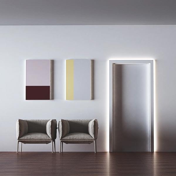 Segnapasso lineare incasso luci led casa Eleni design