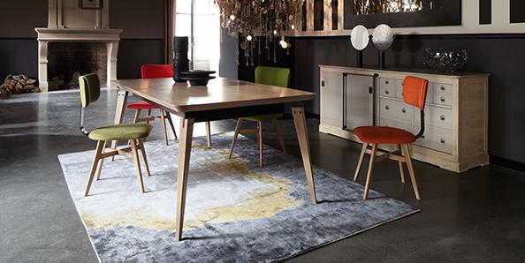 Sedie colorate zona giorno design Roche Bobois