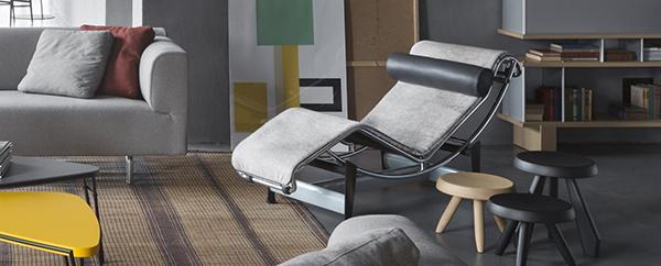 Sedia chaise longue lc4 villa church Cassina design