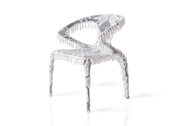 Sedia merletto design Joana Vasconcelos by Roche Bobois