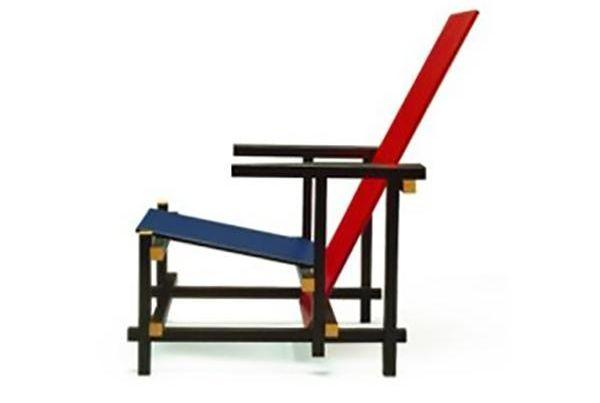 Sedia RED and BLUE by RIETVELD