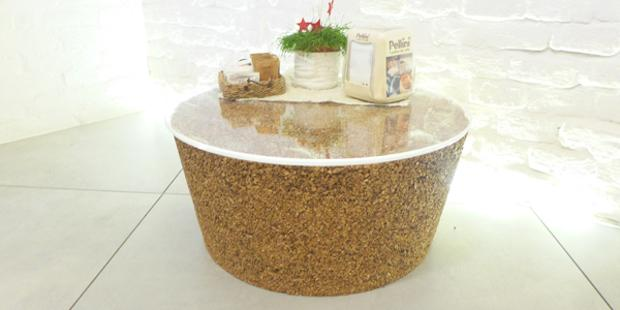 Arredamento in sughero riciclato: tavolino, da Livingcap
