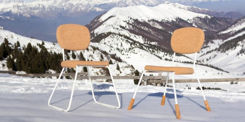 Arredamento in sughero riciclato: sedie, da Livingcap